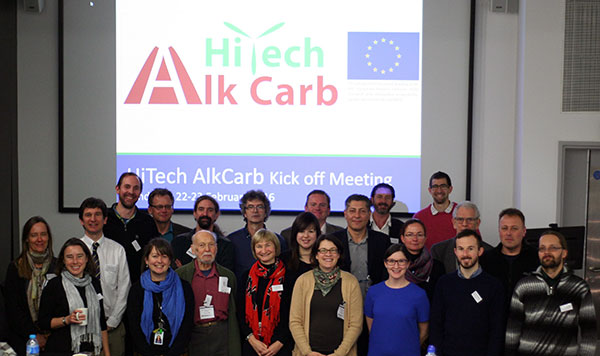 The HiTech AlkCarb project partners at the project kick-off