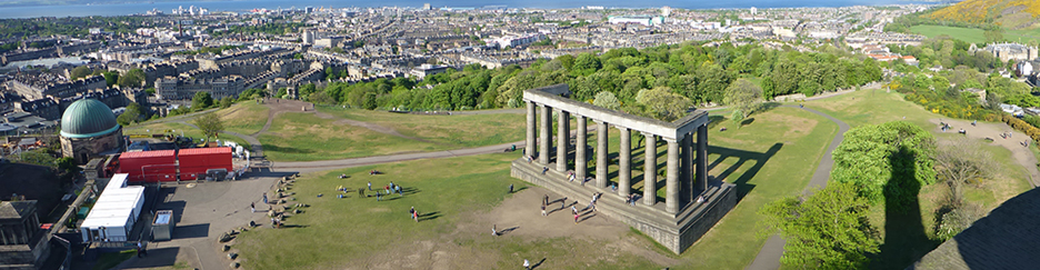 National Monument of Scotland, on Calton Hill in Edinburgh, British Geological Survey image library reference P1090183, BGS © NERC