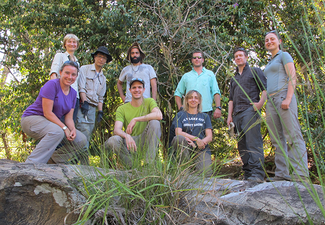 The SoS RARE team in the field in Brazil. Copyright Kathryn Goodenough.
