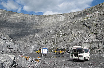 The Kovdor mine, Russia.